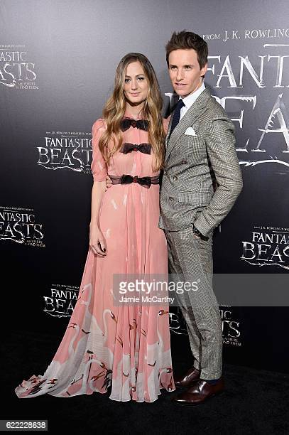Hannah Bagshawe and Eddie Redmayne attend the Fantastic Beasts And Where To Find Them World Premiere at Alice Tully Hall Lincoln Center on November...
