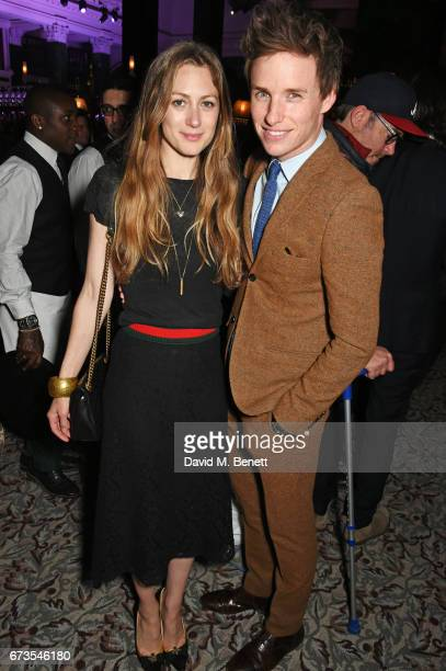 Hannah Bagshawe and Eddie Redmayne attend the launch of The Ned London on April 26 2017 in London England