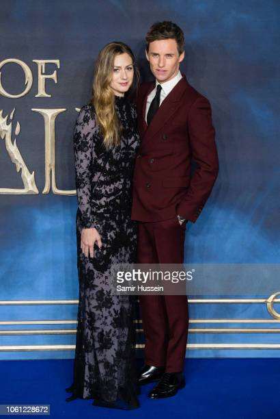 Hannah Bagshawe and Eddie Redmayne attend the UK Premiere of 'Fantastic Beasts The Crimes Of Grindelwald' at Cineworld Leicester Square on November...