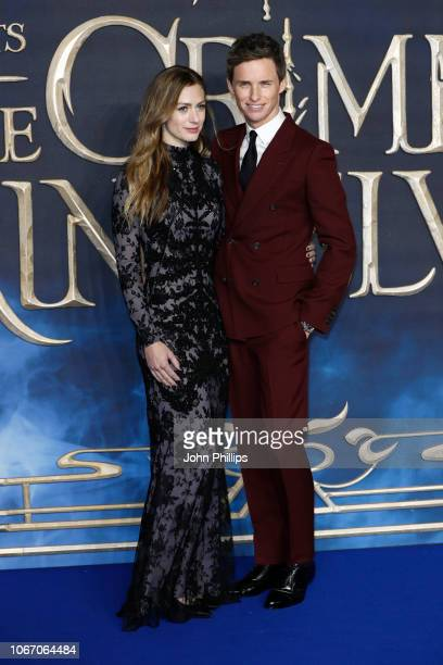 Hannah Bagshawe and Eddie Redmayne attend the UK Premiere of Fantastic Beasts The Crimes Of Grindelwald at Cineworld Leicester Square on November 13...