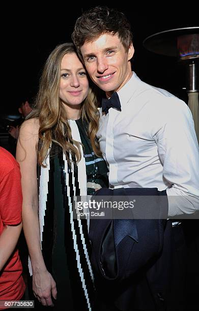 Hannah Bagshawe and Eddie Redmayne attend the Weinstein Company Netflix's 2016 SAG after party hosted by Absolut Elyx at Sunset Tower on January 30...