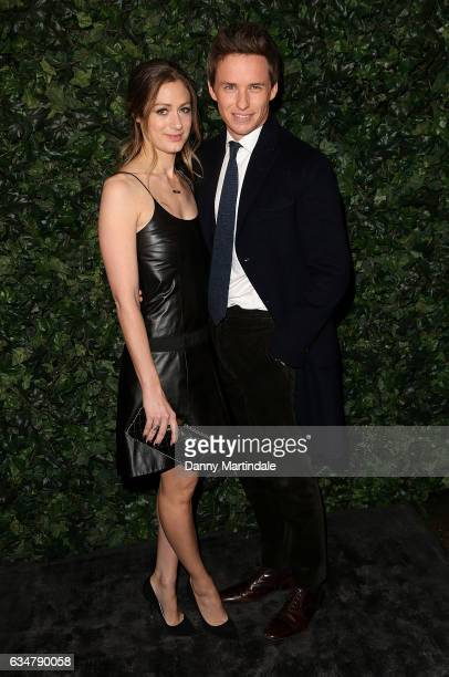 Hannah Bagshawe and Eddie Redmayne attends a pre BAFTA party hosted by Charles Finch and Chanel at Annabel's on February 11 2017 in London England