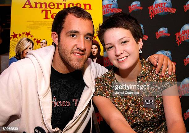 """Hannah Bailey and Colin Clemens of the documentary """"American Teen"""" make an appearance at Planet Hollywood in Times Square on July 25, 2008 in New..."""