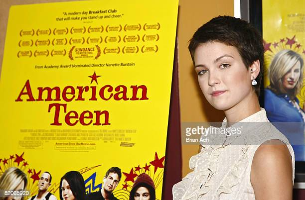 """Hannah Bailey attends the New York premiere of """"American Teen"""" at the Chelsea Cinemas on July 24, 2008 in New York City."""