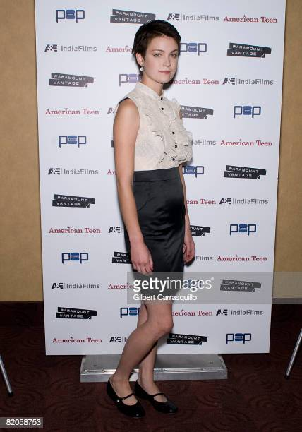 """Hannah Bailey attends the premiere of """"American Teen"""" at the Chelsea Cinemas on July 24, 2008 in New York City."""