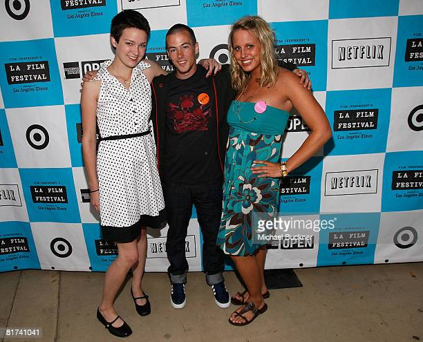 Hannah Bailey, Jake Tusing, and Megan Krizmanich attend the 2008 Los Angeles Film Festival's American Teen at Ford Amphitheatre on June 25, 2008 in...