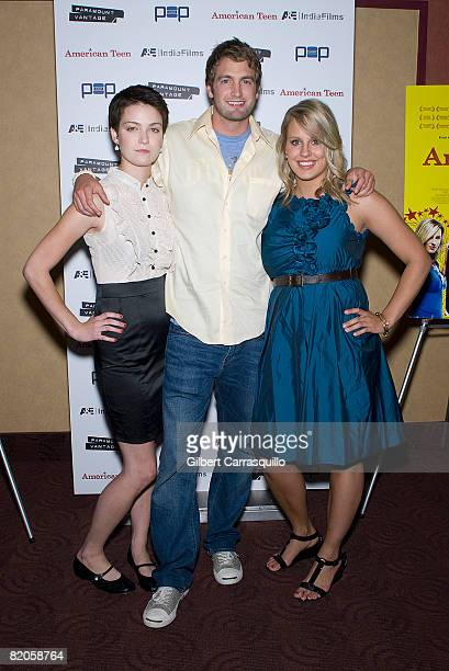 """Hannah Bailey, Mitch Reinholt and Megan Krizmanich attend the premiere of """"American Teen"""" at the Chelsea Cinemas on July 24, 2008 in New York City."""