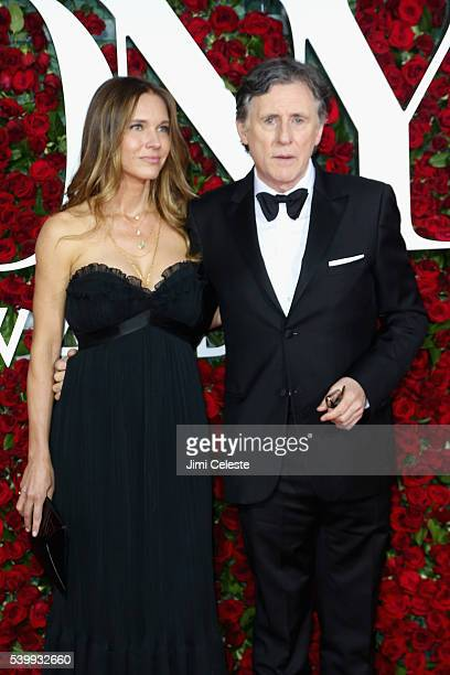 Hannah Beth King and Gabriel Byrne attend the 2016 Tony Awards - Red Carpet at The Beacon Theatre on June 12, 2016 in New York City.