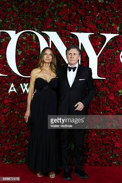 Hannah Beth King and Gabriel Byrne attends the 70th Annual Tony Awards at the Beacon Theater on June 12, 2016 in New York City.
