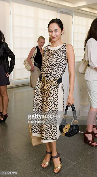 Hannah Bhuiya attends the Richard Prince 'Continuation' Private View at the Serpentine Gallery on June 25 2008 in London England