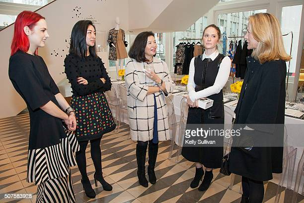 Hannah Bibb Kristin Ming Jenny Ming Esty Ottensoser and Laura Perry socialize at Barneys New York on January 29 2016 in San Francisco California