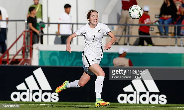 AZ ZARQA' JORDAN OCTOBER 07 Hannah Blake of New Zealand runs with the ball during the FIFA U17 Women's World Cup Group A match between New Zealand...
