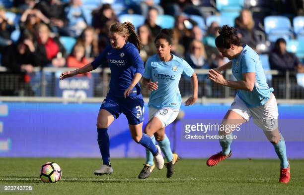 Hannah Blundell of Chelsea in action during a WSL match between Chelsea Ladies and Manchester City Women at the Academy Stadium on February 24 2018...