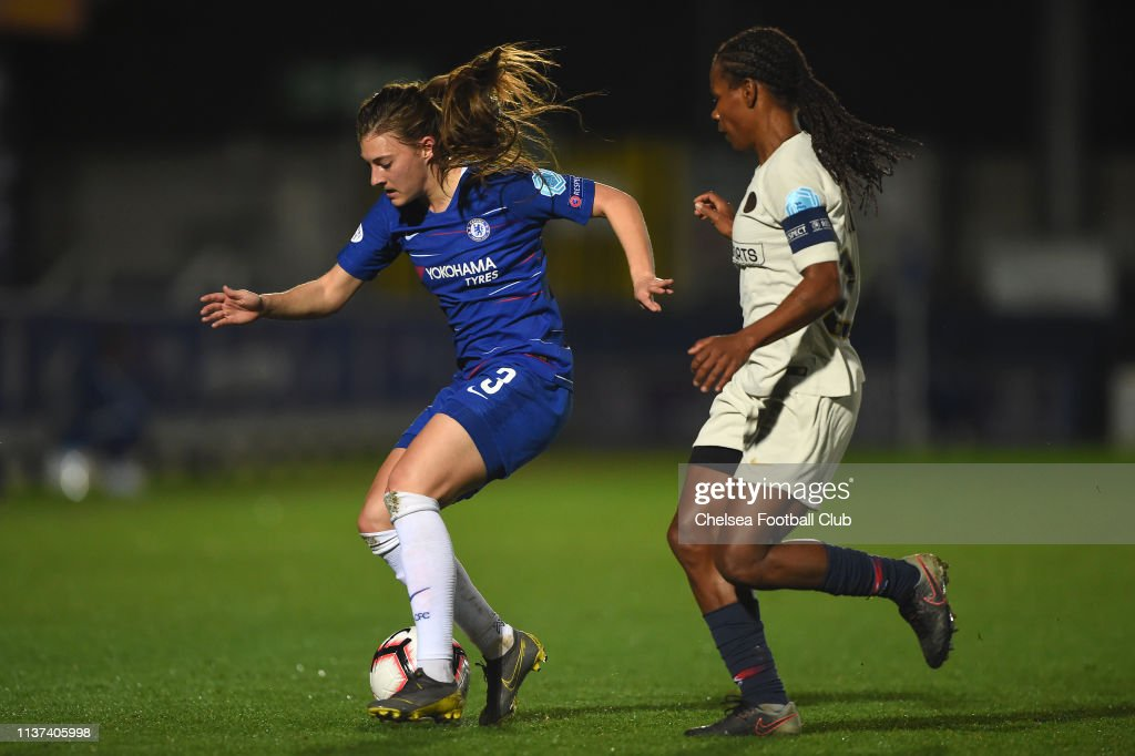 GBR: Chelsea Women v Paris Saint-Germain Women - UEFA Women's Champions League: Quarter Final First Leg