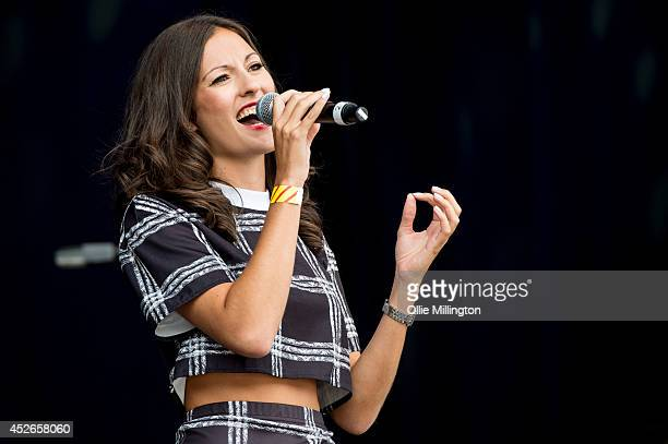 Hannah Boleyn performs on stage at Leicester Music Festival at Welford Road Stadium on July 25, 2014 in Leicester, United Kingdom.