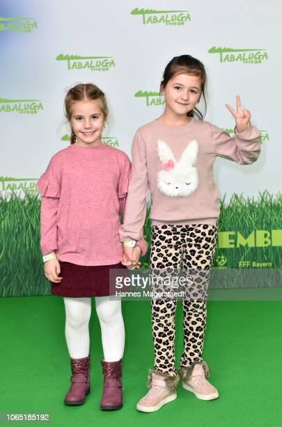 Hannah Born and Alles Ava attend the premiere of 'Tabaluga Der Film' at Mathaeser Filmpalast on November 25 2018 in Munich Germany