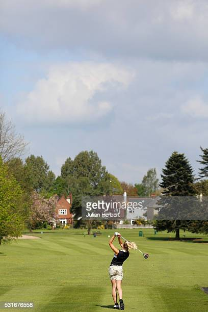 Hannah Bowen of Machynys Peninsula Golf and Country Club plays his first shot on the 1st tee during the PGA Assistants Championship South West...