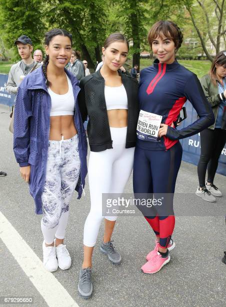 Hannah Bronfman, actors Olivia Culpo and Jackie Cruz attend the 14th Annual SHAPE Women's Half Marathon at Central Park on April 30, 2017 in New York...