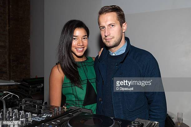 Hannah Bronfman and Brendan Fallis attend the REVOLVE relaunch party on February 11 2014 in New York City