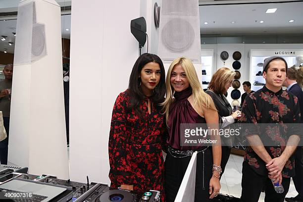 Hannah Bronfman and Fashion Designer Ramy Brook attend NYMag The Cut Saks Fifth Avenue Present What's Next at Saks Fifth Avenue on October 1 2015 in...