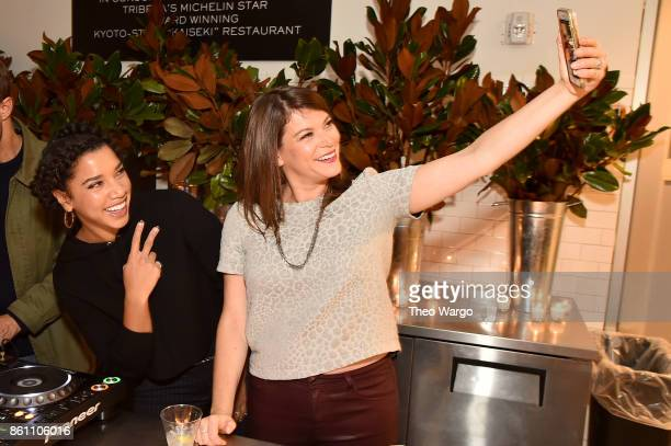 Hannah Bronfman and Food Writer Gail Simmons pose for a selfie during Late Night Adventures in Dean DeLuca hosted by Hannah Bronfman and Gail Simmons...