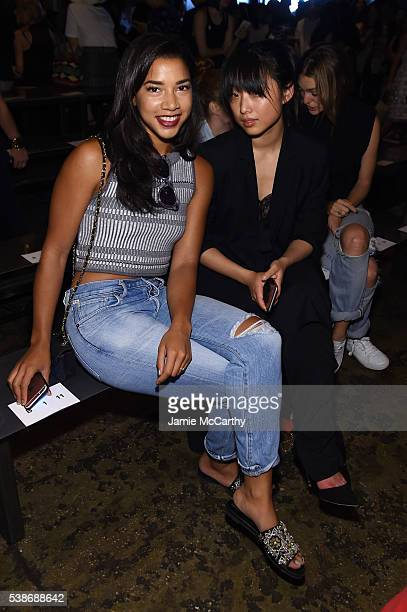 Hannah Bronfman and Guest attend Public School's Women's And Men's Spring 2017 Collection Runway Show at Cedar Lake on June 7 2016 in New York City