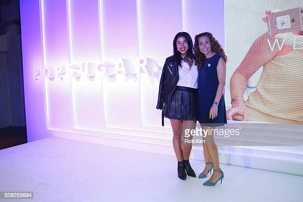 Hannah Bronfman and Lisa Sugar attend the 2016 PopSugar NewFront Presentation at the Altman Building on May 4 2016 in New York City