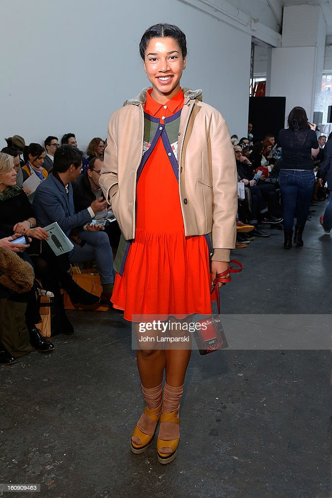 Hannah Bronfman attends Duckie Brown during Fall 2013 Mercedes-Benz Fashion Week at Industria Superstudio on February 7, 2013 in New York City.