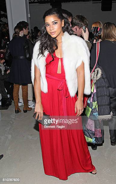 Hannah Bronfman attends Jenny Packham Fall 2016 New York Fashion Week at The Gallery Skylight at Clarkson Sq on February 14 2016 in New York City