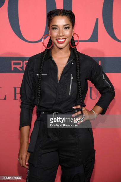 Hannah Bronfman attends the Polo Red Rush Launch Party with Ansel Elgort at Classic Car Club Manhattan on July 25 2018 in New York City