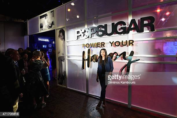 Hannah Bronfman attends the POPSUGAR Digital Newfront 2015 at Cedar Lake on April 30 2015 in New York City