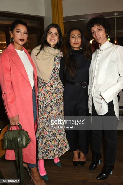 Hannah Bronfman Leandra Medine Nausheen Shah and Yasmin Sewell arrive as Topshop and Leandra Medine host dinner to celebrate London Fashion Week on...