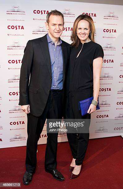 Hannah Bronwen Snow and Alexander Armstrong attends the Costa Book of the Year awards at Quaglinos on January 28 2014 in London England
