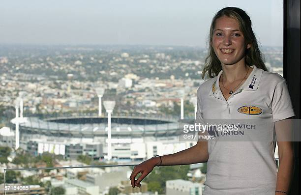 Hannah Brooks poses for a photo at the Hotel Sofitel over looking the MCG March 22 in Melbourne Australia Hannah Brooks is one of six Junior British...