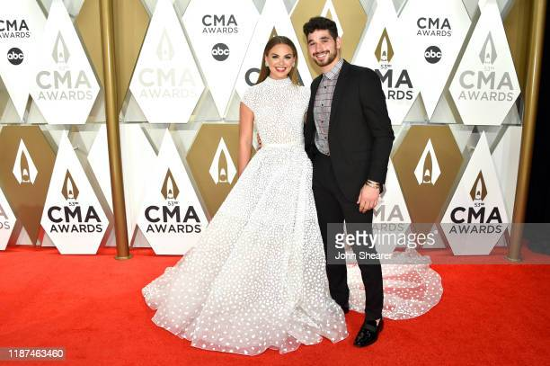 Hannah Brown and Alan Bersten attend the 53rd annual CMA Awards at the Music City Center on November 13 2019 in Nashville Tennessee