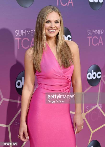 Hannah Brown arrives at ABC's TCA Summer Press Tour Carpet Event on August 5 2019 in West Hollywood California