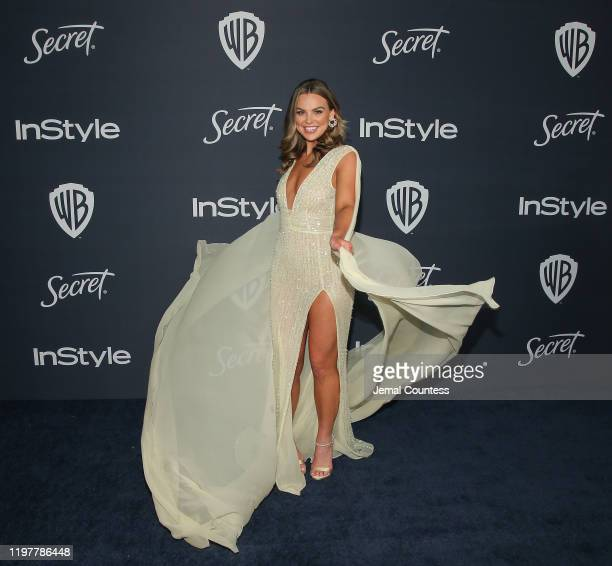 Hannah Brown attends the 21st Annual Warner Bros And InStyle Golden Globe After Party at The Beverly Hilton Hotel on January 05 2020 in Beverly Hills...