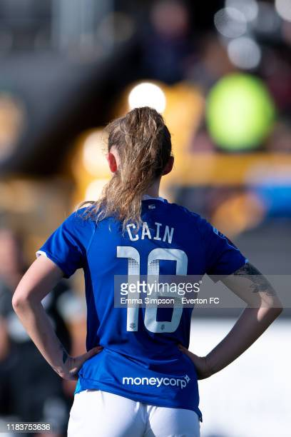 Hannah Cain of Everton during the Barclays FA Women's Super League match between Everton and Brighton Hove Albion at Haig Avenue on October 27 2019...