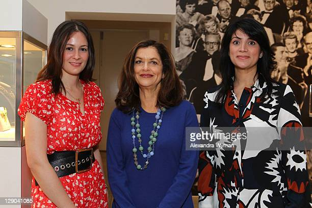 Hannah Ciallella, Debra Black and Cecilia Moreno at Ladies' Luncheon hosted by Debra Black to Preview The Elizabeth Taylor Collection from CHRISTIE'S...