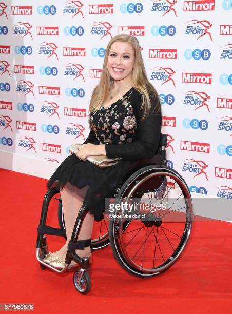 Hannah Cockcroft attends the Pride of Sport awards at Grosvenor House on November 22 2017 in London England