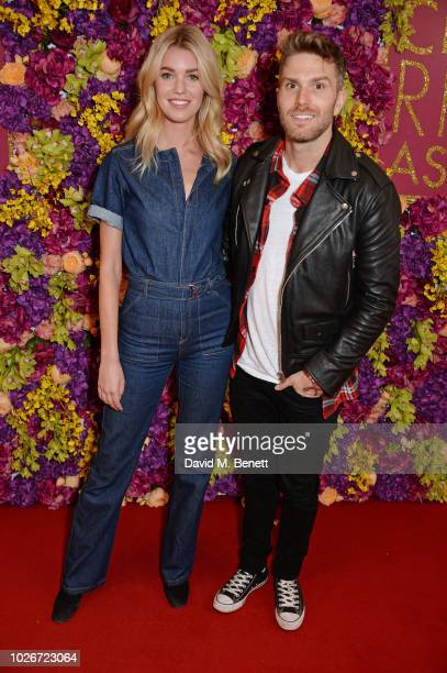 Hannah Cooper and Joel Dommett attend a special screening of Crazy Rich Asians at The Ham Yard Hotel on September 4 2018 in London England
