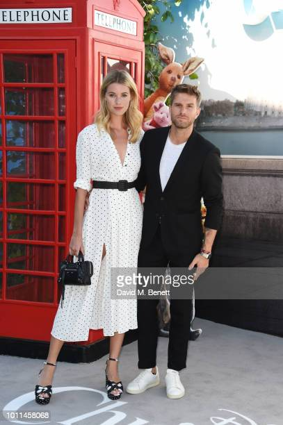 Hannah Cooper and Joel Dommett attend the European Premiere of Christopher Robin at the BFI Southbank on August 5 2018 in London England