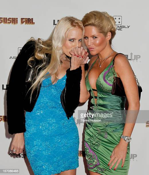 Hannah Cornett and Ashley Mattingly attend the 'Sushi Girl' Los Angeles premiere at Grauman's Chinese Theatre on November 27, 2012 in Hollywood,...