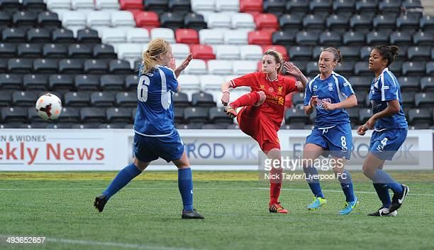 Hannah Dale of Liverpool Ladies in action during the FAWSL fixture between Liverpool Ladies and Birmingham City Ladies at Select Security Stadium on...