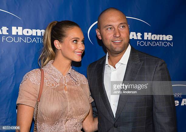 Hannah Davis and Derek Jeter attend 14th Annual Joe Torre Safe At Home Foundation Celebrity Gala at Cipriani 25 Broadway on November 10 2016 in New...