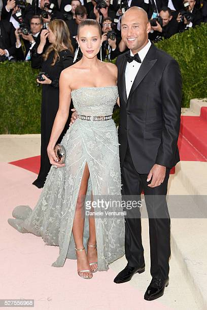 """Hannah Davis and Derek Jeter attend the """"Manus x Machina: Fashion In An Age Of Technology"""" Costume Institute Gala at Metropolitan Museum of Art on..."""