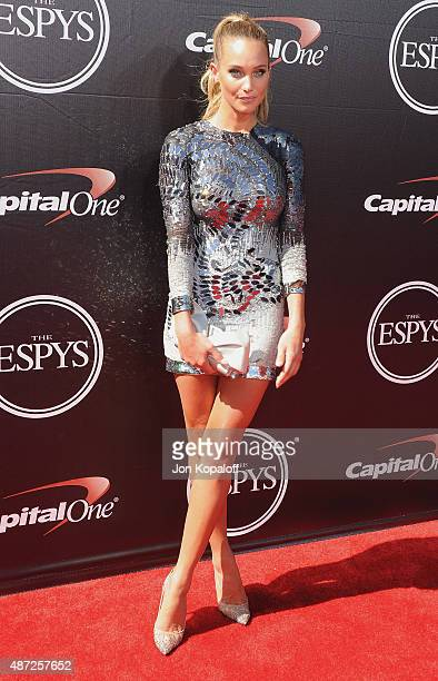 Hannah Davis arrives at The 2015 ESPYS at Microsoft Theater on July 15 2015 in Los Angeles California