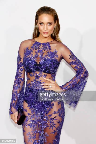 Hannah Davis arrives at the 2016 American Music Awards at the Microsoft Theater on November 20 2016 in Los Angeles California EDITORS NOTE Image has...
