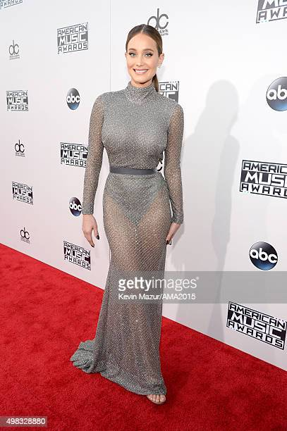 Hannah Davis attends the 2015 American Music Awards at Microsoft Theater on November 22 2015 in Los Angeles California