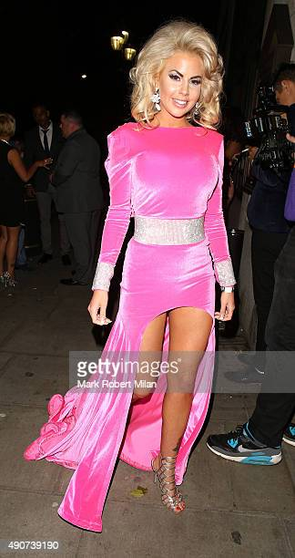 Hannah Elizabeth at the Reality TV awards on September 30 2015 in London England